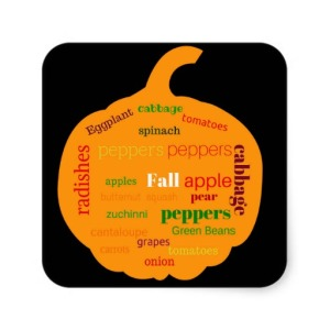 fall_fruit_veggies_pumpkin_black_sticker