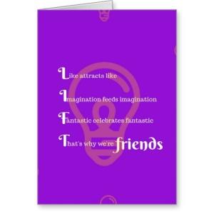 lift_friends_purple_greeting_card