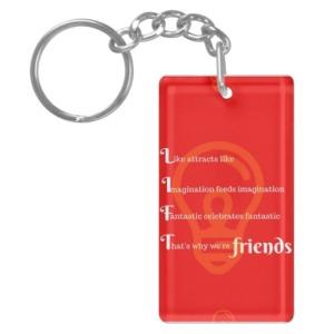 lift_friends_red_single_sided_rectangular_acrylic_keychain