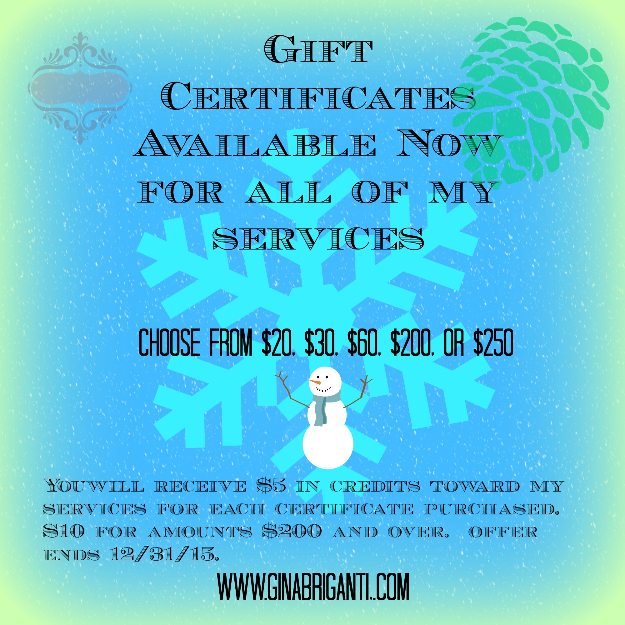 Gift Certificate 2
