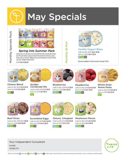 Flyer May Specials
